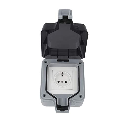 AllRight Außensteckdose Steckdose IP66 Wasserdicht Staubdicht Feuchtraum Aufputz Schutzkontakt für Drinnen und Draußen
