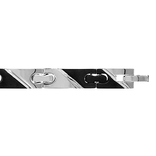 pulsera para hombre acero & color negro