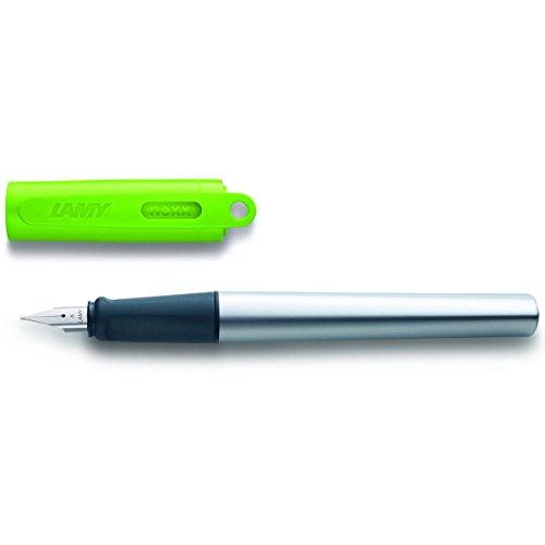 LAMY nexx Füllhalter 086 - Füller aus Aluminium in der Farbe Grün mit rutschfestem Griffstück und Stahlfeder - Federstärke LH