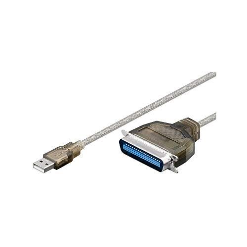 Wentronic - Conversor USB a Paralelo (Conector Macho USB a C