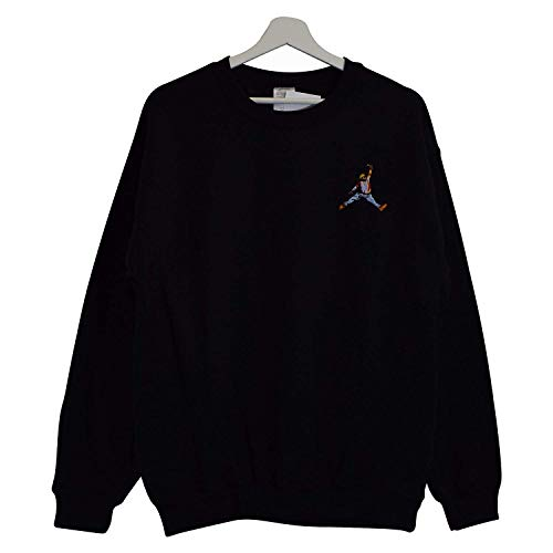 Actual Fact Biggie X Jordan Slam Dunk Schwarz Rundhals Hip Hop Groß Sweatshirt Top (Small-XXLarge) - Schwarz, M
