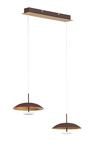 WOFI Pendelleuchte, Metall, Integriert, 24 W, Goldfarbig, 61 x 21.5 x 1500 cm
