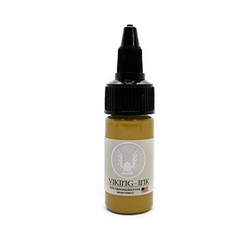 VIKING INK - Encre de Tatouage - LIGHT BROWN 0.5oz (15ml) - Les meilleures couleurs et noirs - Vegan