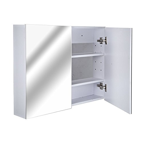 HOMCOM Spiegelschrank Badspiegel Badschrank Badezimmerspiegel Wandspiegel (Modell 3)