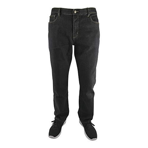 MARINA DEL REY Herren 5-Pocket Jeans Regular FIT Stretch in Übergröße, Schwarz, 62