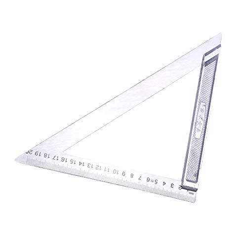 F Fityle Dreieck Lineal Zeichendreieck Holzbearbeitungslineal für Quadratmeter - 200 mm