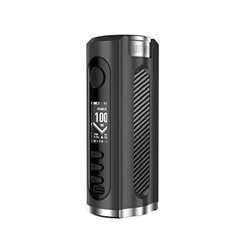 Lost Vape GRUS 100 Watt TC Box Mod (Akkuträger) | VW, VV, TC | Farbe: schwarz-carbon