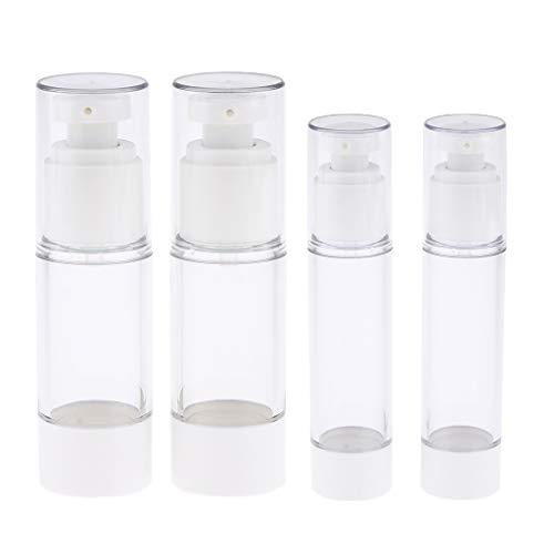 IPOTCH 4pcs Flacon Vide Voyage Bouteille Pulvérisateur Container Cosmétique Pot Rechargeable Fiole Liquide Échantillon 30 / 50ml