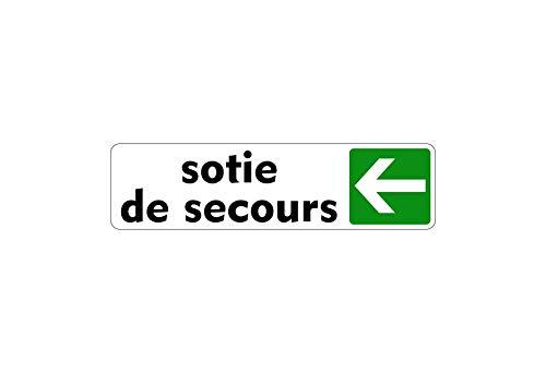 Stickers voor deurschild nooduitgang rechts