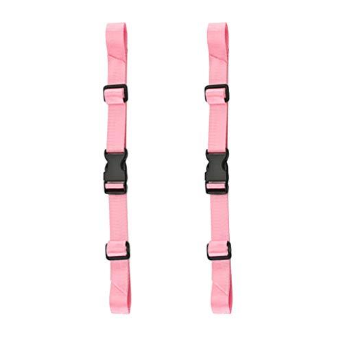 perfk 2pcs Clips de Sécurité avec Boucle à Accrocher Ceinture de Sécurité Pièce de Rechange pour Sac à Dos - Sangle de Taille Rose