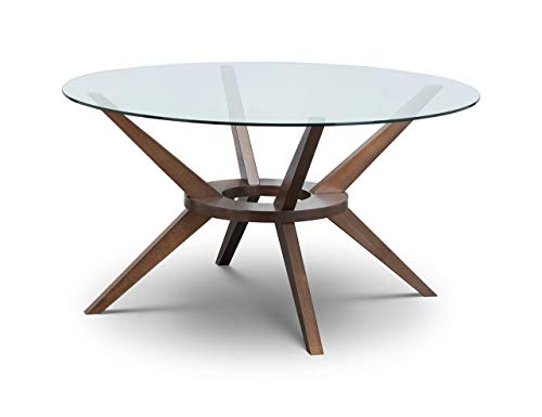 Julian Bowen Chelsea Large Dining Table, Walnut, 140cm