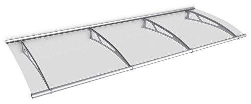 Schulte deurluifel LT-Line, 270 x 95 cm, getoogd Acrylglas helder, mat RVS, V1027-10-20