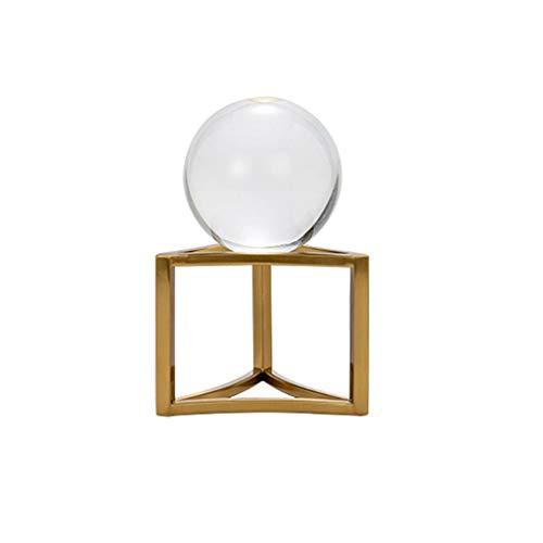 Adivinación con Bola de Cristal Crystal Ball 3D, Decorativo Bola de Cristal con un Stand, Home Office Decor, Grandes Regalos con Caja de Regalo Bola de Cristal (Size : S)