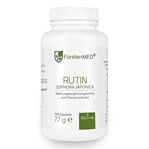 FürstenMED® Rutin Kapseln - Hochdosiert 522,5mg Rutin - Vegan - aus Deutschland ohne Zusatzstoffe