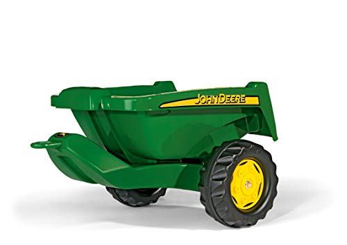 Rolly Toys John Deere Tipper Trailer with Rear Tipping for Pedal Tractor, Youth Ages 3+