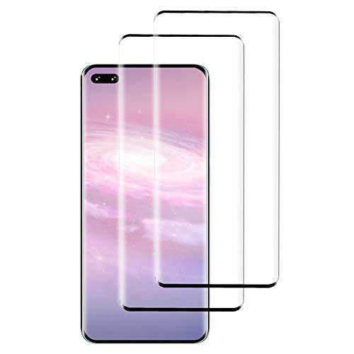 PUUDUU [2 Pack Protector de Pantalla para Huawei P40 Pro, Sin Burbujas, Anti-Rasguños, HD Transparente,Cristal Templado Protector de Pantalla para Huawei P40 Pro