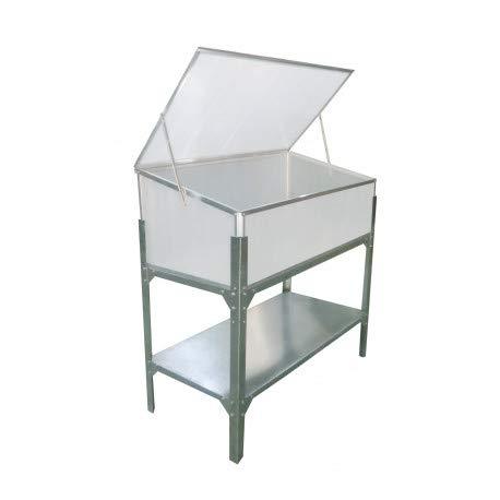Gardiun KIS12142 - Invernadero Jaca Elevado I 53x104x108 cm 1 agua Policarbonato Transparente