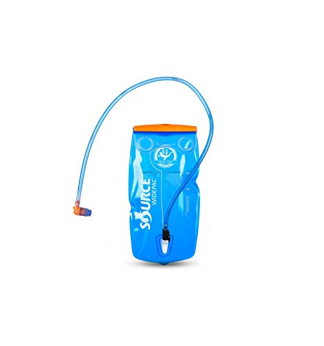 Source Wasserbehälter Widepac Depósito, Unisex, Azul Transparente/Rojo, 1.5 L