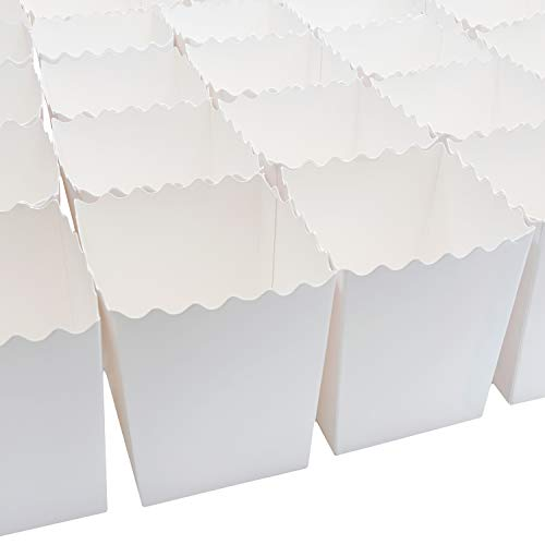 Set of 100 Popcorn Favor Boxes 16oz for Party, Movie Night, Themed Party, Birthday Supplies, Weddings