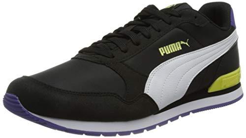 PUMA Unisex St Runner V2 Nl Sneaker, Schwarz Weiß Gelb Birne Prism Violett, 39 EU