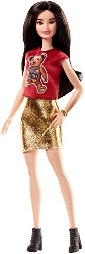 Barbie Fashionista, Muñeca Osito feliz, juguete +7 años (