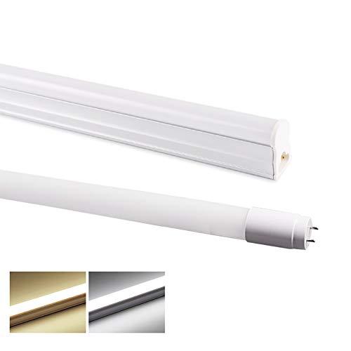 MTSBW Led Werkstattleuchte,30 cm 60 cm T5 LED-Röhre T8 6W 10 W 220 V Leuchtstoffröhre LED T5 Röhrenlampe 2835 SMD T8 Röhrenbeleuchtung, geeignet für Heim-, Büro- und Ausstellungsbeleuchtung