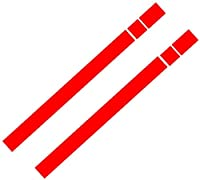 2株式ビニールの車のボンネットのボンネット・ストライプは、ラベルをカバーしています。ミニクーパーR50 R53 R56 R55,赤