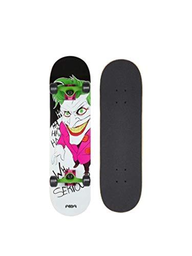 AREA Komplett Skateboard, 7,5 inch mit Aluminium Truck und ABEC 5chrome Kugellager (Joker)