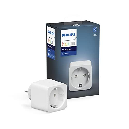 Philips Hue Smart Plug, smarte Steckdose, kompatibel mit Amazon Alexa (Echo, Echo Dot), Weiß