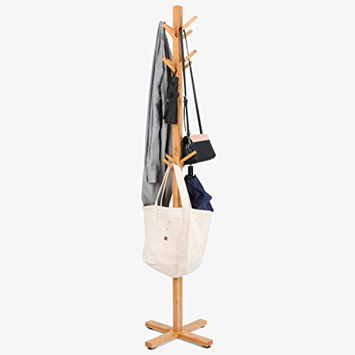 Homfa Perchero de bambú de Pie Perchero de árbol Perchero