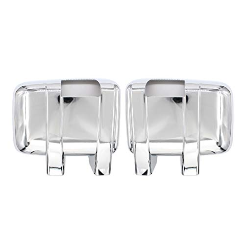 NewYall Pack of 2 Front Left Driver and Right Passenger Side Chrome Full Mirror Cover with Turn Light Signal Hole for 2008-2016 Ford F-250 F-350 F-450 F-550 Super Duty