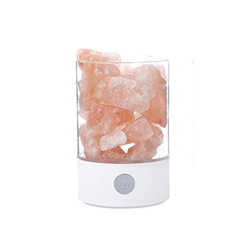 Missley USB Romantisch Nachtlicht LED Kristall Salz Lampe Negativ Ion Luft Reinigung Lampe Bunt Tischleuchte Deocrations zum Schlafzimmer Wohnzimmer (Weiß)
