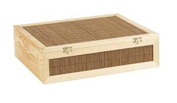 Coffret 3 bouteilles de vin en bois et bambou