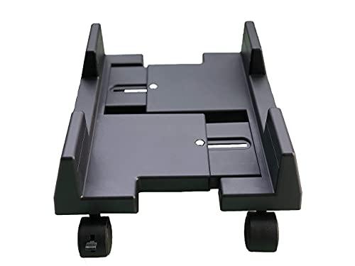 AkoaDa CPU Ständer für PC Computergehäusehalter, abnehmbare verstellbare Computergehäuseständerhalterung Desktop Mainframe Lagerregal mit Bremse(Schwarz)