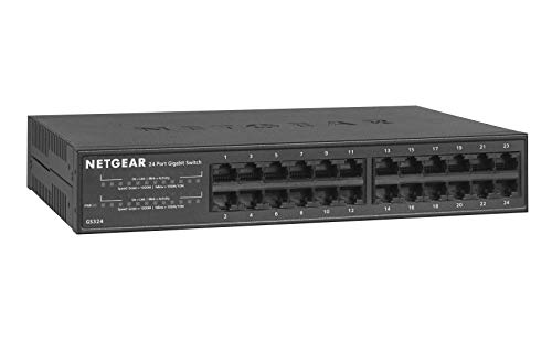NETGEAR 24-Port Gigabit Ethernet Unmanaged Switch (GS324)