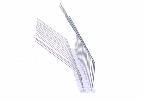 50 cm 2 reihig Edelstahl Taubenabwehr Vogelabwehr Taubenspikes Polycarbonat Profiqualität jetzt mit A+ Zertifizierung von MD speziell für Dachrinnen und Solaranlagen