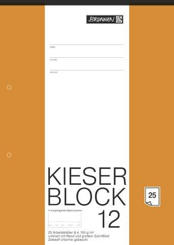 Brunnen 1042237 KIESER-Zeichenblock (A4, 25 Blatt, blanko, mit Rand, gelocht, 150g/m²) (3)