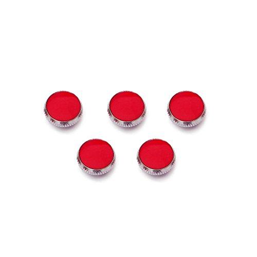 3pcs Rote Stein Ventil Knopf Knöpfe Finger Buttons Für Trompete Trumpet