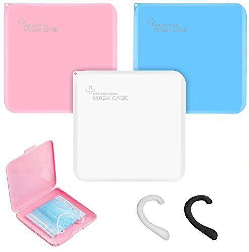 Masken-Aufbewahrungsbox, 3 Stück Aufbewahrungsbox für Gesichtsbedeckung, Tragbare Aufbewahrungsbox, Aufbewahrungsbox für Staubmasken, Aufbewahrungstasche