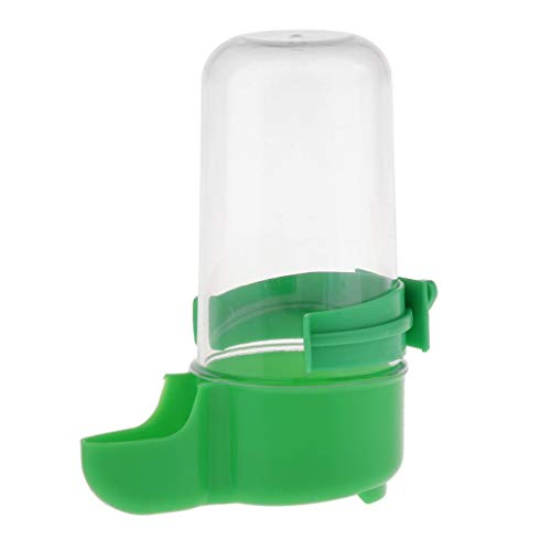 F Fityle Automatischer Futterspender Wasserspender für Vögel Papageien Wellensittich Nymphensittiche Käfig - Grün