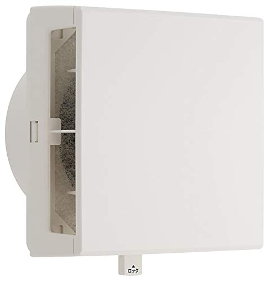 みなさんあたたかいなにユニックス 室内用製品 差圧式給気口 壁取付用 PDF150BWFH(旧:AWFH) フラットカバー 外気浄化フィルター付
