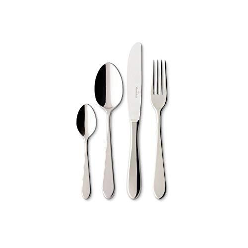 Villeroy & Boch - Sereno ménagère 113 pièces, grand ensemble de couverts en acier inoxydable de haute qualité pour jusqu'à 12 personnes, adapté au lave-vaisselle, élégance simple