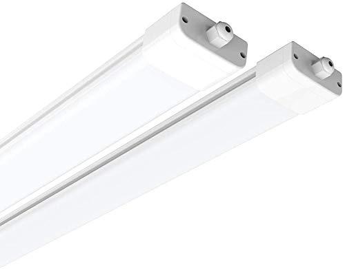 Anten 45W LED Feuchtraumleuchte 150cm für Keller, Garage, Innen- und Außenbeleuchtung | IP65 Wasserfest Kellerleuchte, Feuchtraumlampe in (Kaltweiß 6000K / Neutralweiß 4000K),2 Stück