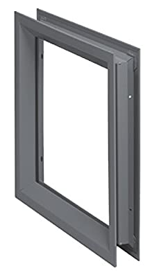 "National Guard L-FRA100 24"" x 30"" NGP Low Profile Vision Lite Kit for Door Opening Cutout, 24"" x 30"""