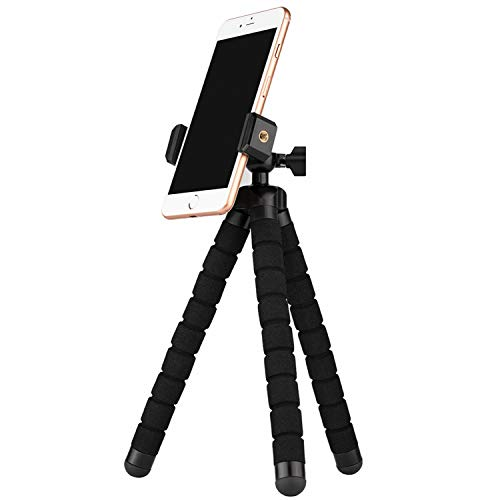 Ailun Phone Tripod Mount Stand Phone Holder Small Light Compatible with iPhone 12 12Pro12Mini 12Pro Max iPhone X Xs XR Xs Max 8 8 Plus 7 7 Plus 6 6s More Camera Cellphone