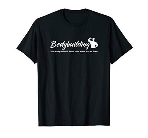 Herren Bodybuilding cooler Spruch Großes Rückenbild mit Muskelmann T-Shirt