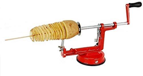 B-black® Sbuccia Patate a Spirale Twister Taglia affetta Pela Patate Manuale in Acciaio Inox