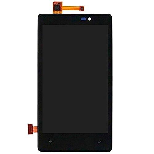 Leluckly1 Reemplace el Viejo para Nokia Pantalla LCD de Repuesto + Marco + Touch Pad + Marco Frontal Pantalla LCD + Panel táctil con Marco for Nokia Lumia 820 para Nokia