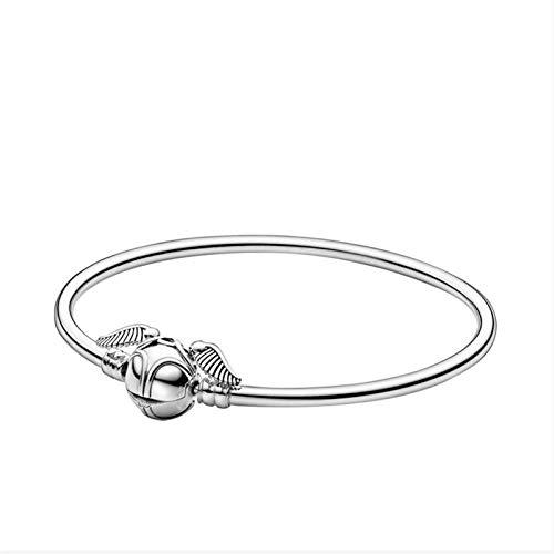 JIEERCUN Pulsera de Plata de Hebilla de Plata Pulsera de Moda de joyería Hecha para Mujeres Joyería de Moda brazaletes (Size : 20cm)