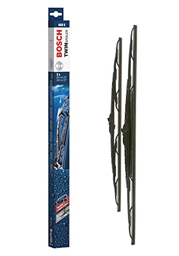 Bosch Scheibenwischer Twin Spoiler 608S, Länge: 600mm/550mm – Set für Frontscheibe
